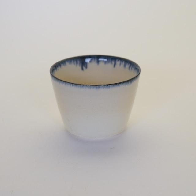 中里花子 ブルー皮鯨蕎麦猪口【フリーカップ】【小鉢】