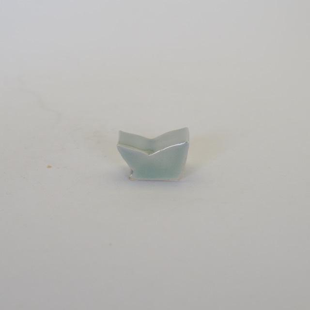 中里花子 緑青磁 箸置き