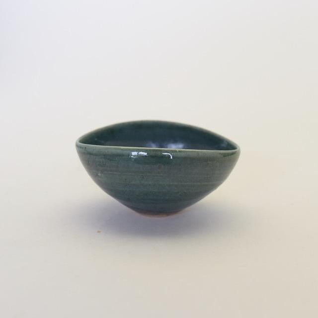 中里花子 エッグボウル 緑釉 【楕円】【小鉢】