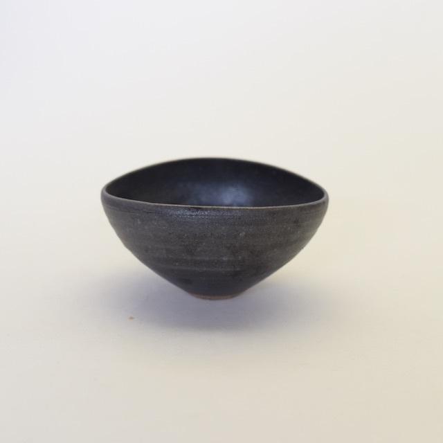 中里花子 エッグボウル 黒釉 【楕円】【小鉢】