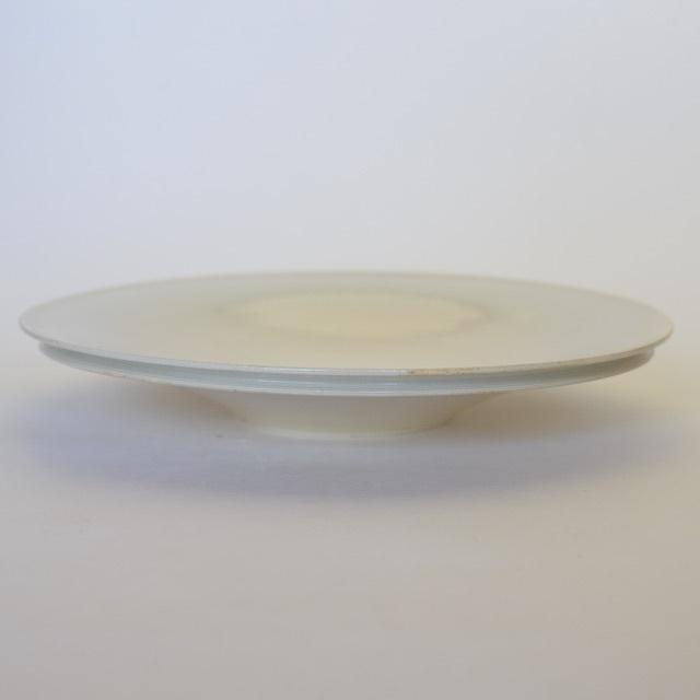 中里花子 ダブルリップ皿 ホワイト 20cm
