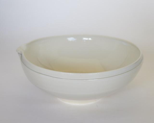 中里花子 ホワイトダブルリップ片口鉢