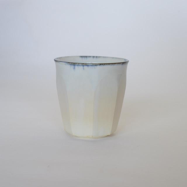 中里花子 ブルー皮鯨面取カップ 【フリーカップ】