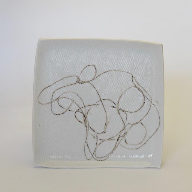 中里花子 白磁String Plate