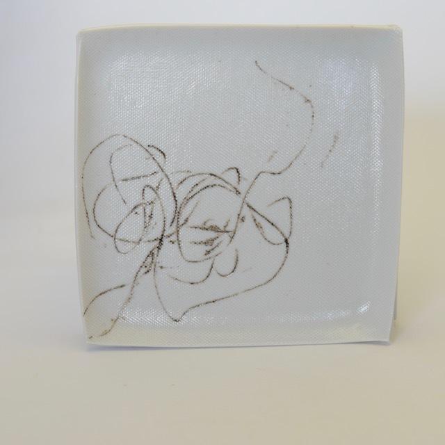中里花子 白磁String Plate (F)