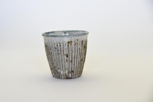 中里花子 土灰釉しのぎカップ 【フリーカップ】【湯呑】【ビアカップ】和食器】