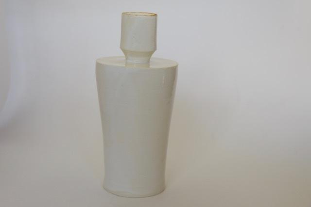 中里花子 白磁ボトル花入れ 【花瓶】【送料無料】
