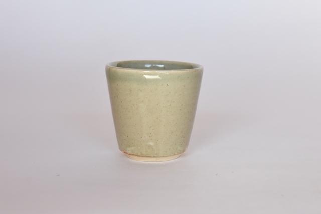 中里花子 緑釉カップ 【フリーカップ】【湯呑】【和食器】