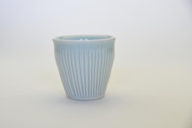 中里花子 青磁しのぎカップ 【フリーカップ】【湯呑】【ビアカップ】和食器】