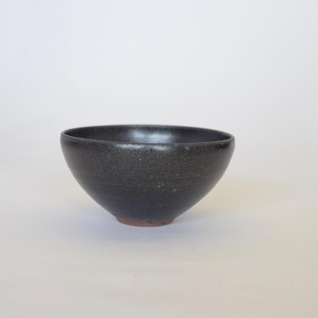 中里花子 黒釉飯碗【ボウル】【ご飯茶わん】