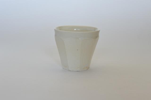 中里花子 ホワイト 面取カップ 【フリーカップ】