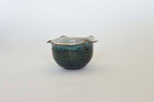 中里花子 緑釉柿の花小鉢