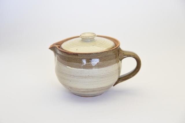 中里花子 黄瀬戸刷毛目ポット【茶器】【陶器】