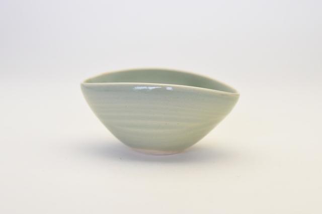 中里花子 エッグボウル 緑青磁 【楕円】【小鉢】