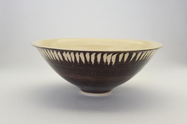 中里花子  削り模様中鉢