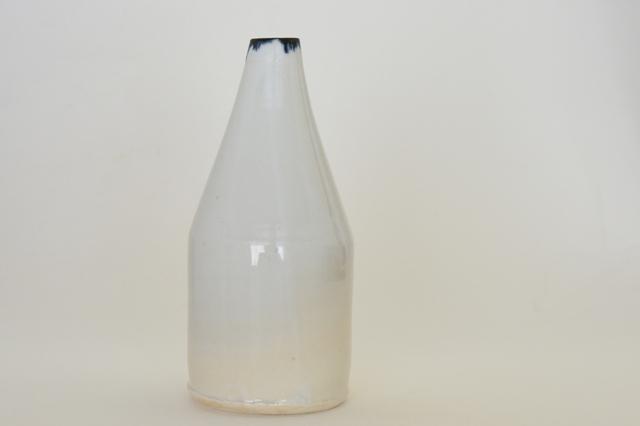 中里花子 ブルー皮鯨ボトル 花入れ 【花瓶】