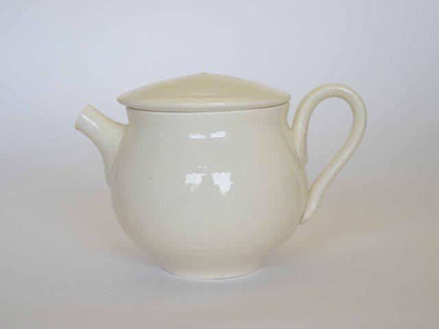 中里花子 ホワイトティーポット【茶器】【陶器】