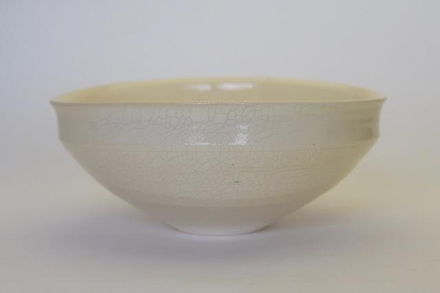 中里花子 粉引楕円貫入鉢 【中鉢】