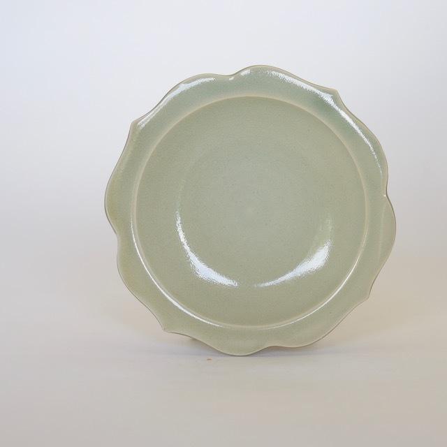 中里花子 緑青磁チャクラ小皿