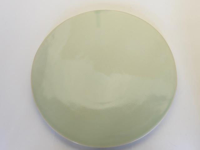 中里花子 緑青磁平皿 D26cm