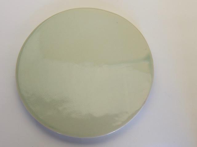 中里花子 緑青磁平皿 D23cm