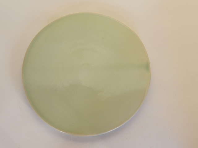 中里花子 緑青磁平皿 D20cm