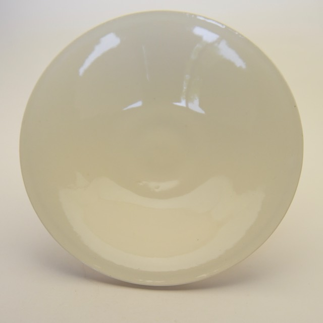 中里花子 ホワイトダブルリップ皿 20cm