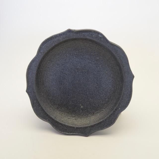 中里花子 黒釉チャクラ皿【ケーキ皿】【取り皿】