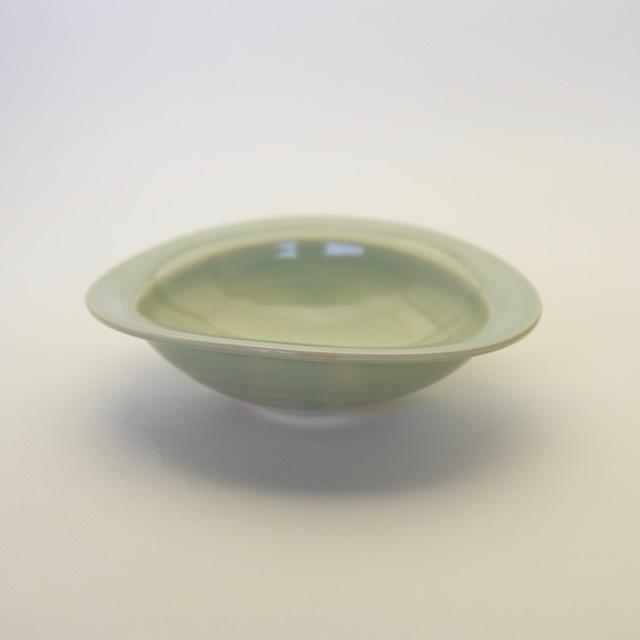 中里花子 緑青磁 リムボウル 16