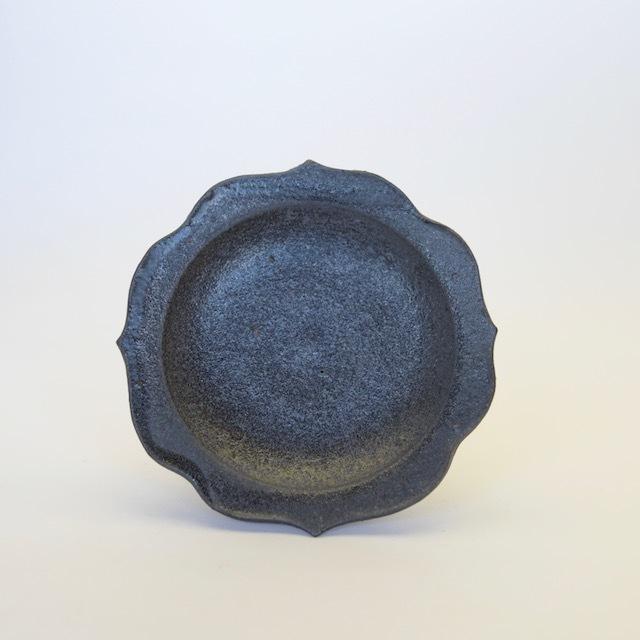 中里花子 黒釉チャクラ小皿