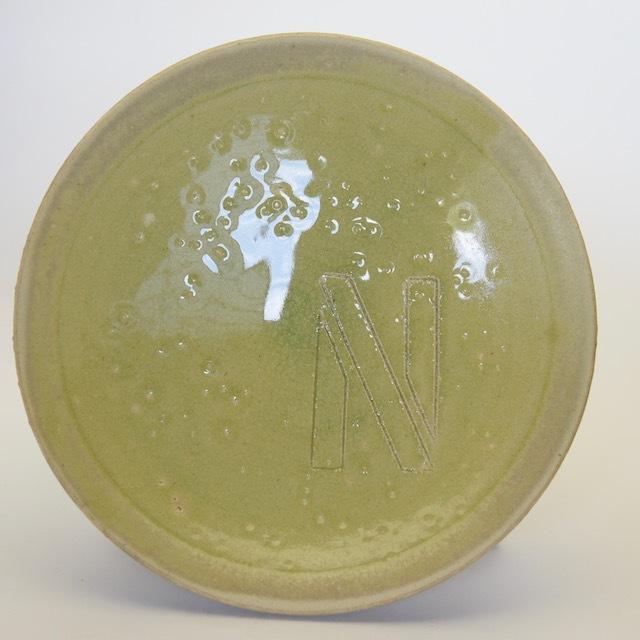 中里花子 イニシャル ダブルリップ皿 20cm