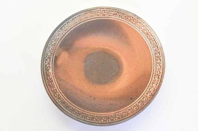 井銅心平 南蛮象嵌皿 E