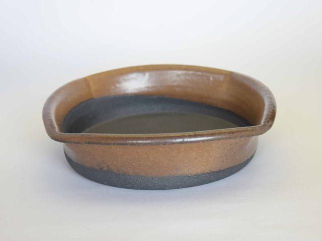 大庭一仁 バター釉 四方鉢