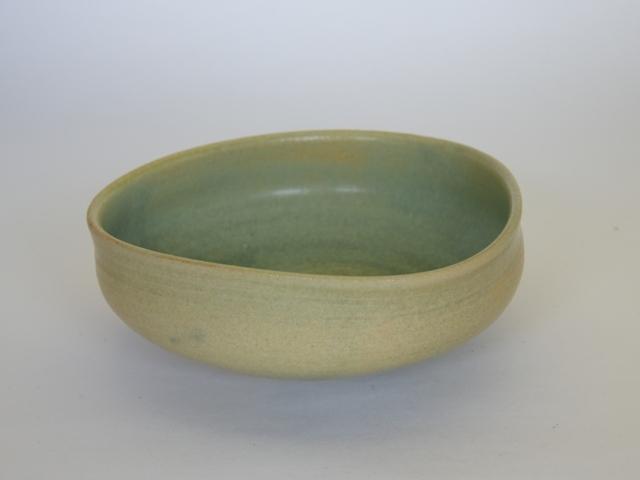 大庭一仁 緑釉三方盛鉢【中鉢】