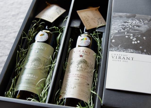 フランス産高級オリーブオイル シャトーヴィラン エクストラヴバージンオリーブオイル 2本x500ml 【ギフト箱入り】