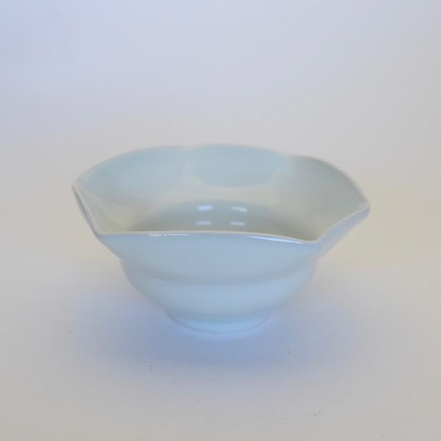 中里隆 アンダーソンランチ 白磁三方向附 【茶道具】【向付】