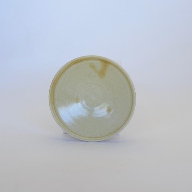 中里隆 黄釉薬豆皿 【醤油皿】