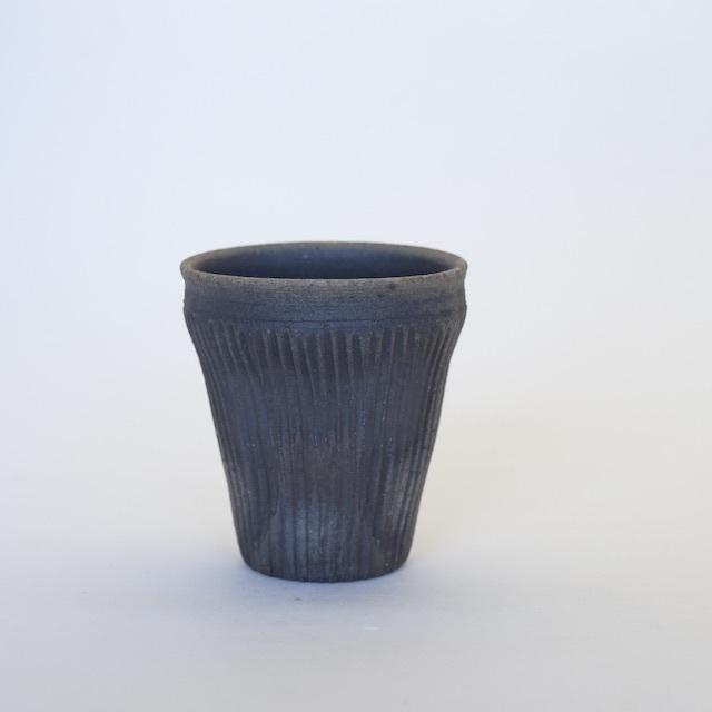 中里隆 アンダーソンランチ ・テラシッジ線文カップ【ビアカップ】【陶器】