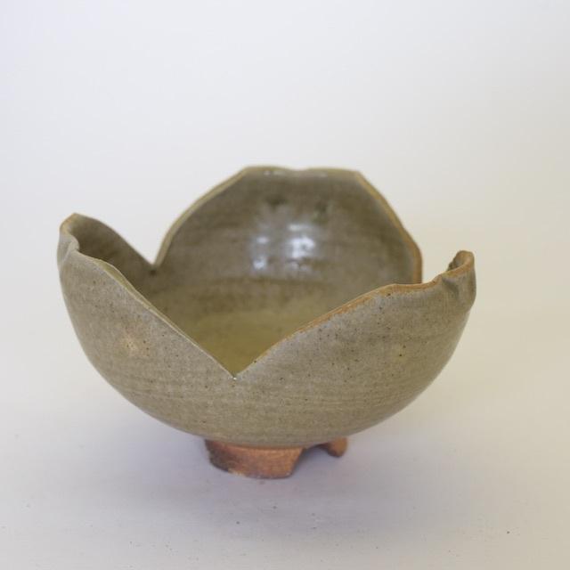 中里隆 アンダーソンランチ 灰釉割山椒鉢【中鉢】【送料無料】