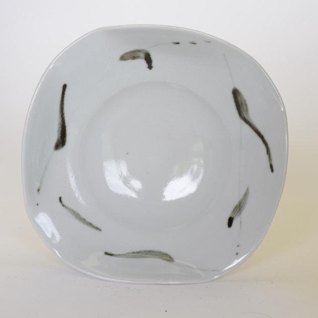 中里隆 アンダーソンランチ白磁鉄絵四方皿【中皿】