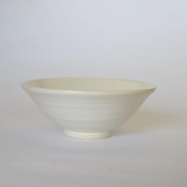 中里隆 クリーム白釉飯碗【ご飯茶わん】