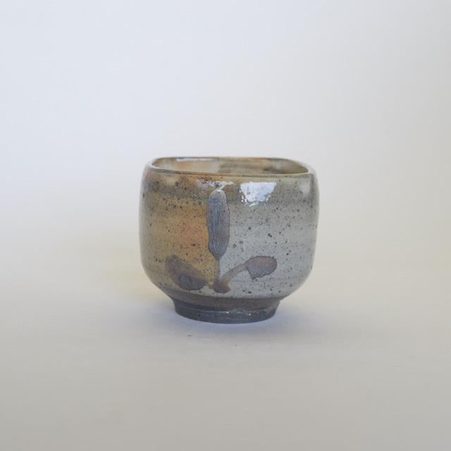 中里隆 絵粉引四方小鉢