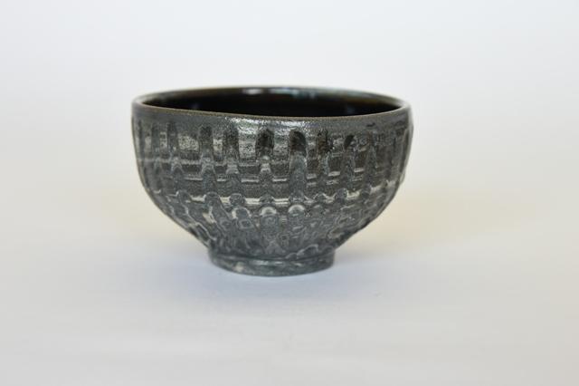 中里隆 練り込みフルーティング茶碗