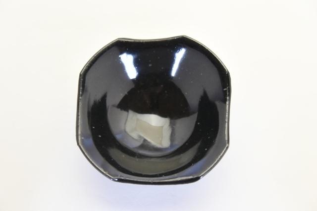 中里隆 黒釉角切小鉢