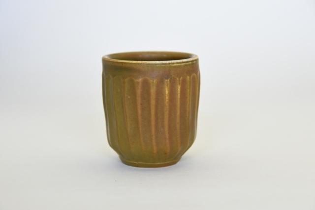 中里隆 アンダーソンランチ アセロ釉しのぎ文湯呑