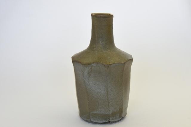 中里隆 アセロ釉面取砧花入れ 【花瓶】