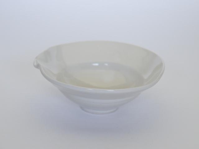 中里隆 アンダーソンランチ 白磁片口向附【茶道具】