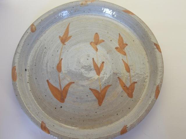 中里隆 アンダーソンランチ 刷毛目草文平皿 【丸皿】【送料無料】