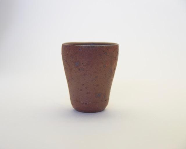 中里隆 花の木焼き〆ビアカップ【陶器】