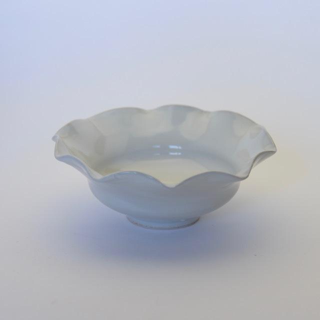中里隆 アンダーソンランチ 白磁輪花鉢【中鉢】【送料無料】